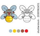 bee coloring page for preschool ...   Shutterstock .eps vector #2030582651