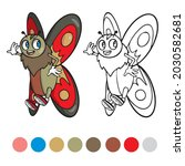 butterfly coloring page for...   Shutterstock .eps vector #2030582681
