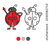 ladybug coloring page for...   Shutterstock .eps vector #2030582714