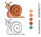 snail coloring page for...   Shutterstock .eps vector #2030582717