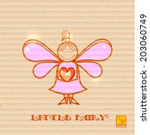 little fairy with heart in... | Shutterstock .eps vector #203060749