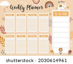 weekly planner page template ... | Shutterstock .eps vector #2030614961