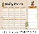 weekly planner page template ... | Shutterstock .eps vector #2030616764