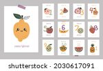 monthly baby cards with cute... | Shutterstock .eps vector #2030617091