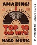 retro music flyer a4 format.... | Shutterstock . vector #2030641781