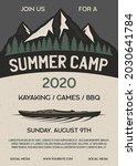 summer camp flyer a4 format.... | Shutterstock . vector #2030641784