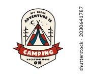 camping adventure emblem design.... | Shutterstock . vector #2030641787