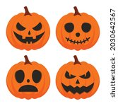 halloween pumpkin vector set...   Shutterstock .eps vector #2030642567
