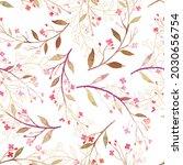 leaves and little flower... | Shutterstock .eps vector #2030656754