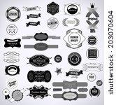 set of vintage retro labels     ... | Shutterstock . vector #203070604