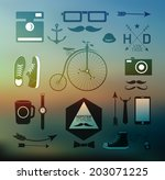hipster style elements  icons... | Shutterstock . vector #203071225