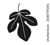 fig leaf in silhouette vector... | Shutterstock .eps vector #2030759201