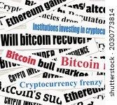 crypto investing news headlines....   Shutterstock .eps vector #2030773814