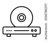 cd player vector outline icon... | Shutterstock .eps vector #2030780297