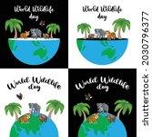 world wildlife day. happy... | Shutterstock .eps vector #2030796377