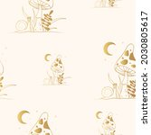 golden celestial mushroom... | Shutterstock .eps vector #2030805617