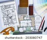 concept of  home renovation... | Shutterstock . vector #203080747