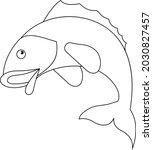 fish cartoon vector art and...   Shutterstock .eps vector #2030827457