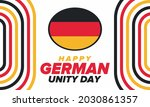 german unity day. celebrated... | Shutterstock .eps vector #2030861357