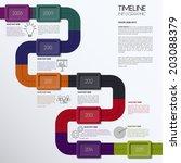 vector timeline infographic.... | Shutterstock .eps vector #203088379