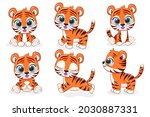 A Collection Of 6 Cute Tiger...