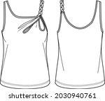 vector summer tank top fashion...   Shutterstock .eps vector #2030940761