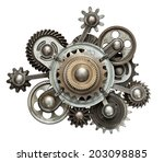 stylized mechanical collage.... | Shutterstock . vector #203098885