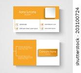 modern sample orange business... | Shutterstock .eps vector #203100724