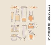 collection of make up and... | Shutterstock .eps vector #203101111