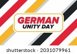 german unity day. celebrated... | Shutterstock .eps vector #2031079961