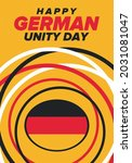 german unity day. celebrated... | Shutterstock .eps vector #2031081047