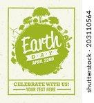earth day eco green vector... | Shutterstock .eps vector #203110564