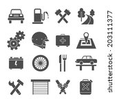 auto service icons set in flat... | Shutterstock .eps vector #203111377