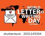 world letter writing day.... | Shutterstock .eps vector #2031145334