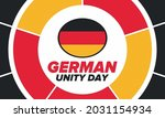 german unity day. celebrated... | Shutterstock .eps vector #2031154934