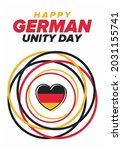 german unity day. celebrated... | Shutterstock .eps vector #2031155741
