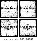 abstract grunge frame set.... | Shutterstock .eps vector #203120131