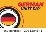 german unity day. celebrated... | Shutterstock .eps vector #2031204941