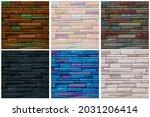 seamless pattern stone brick...