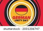 german unity day. celebrated... | Shutterstock .eps vector #2031206747