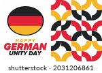 german unity day. celebrated... | Shutterstock .eps vector #2031206861