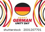 german unity day. celebrated... | Shutterstock .eps vector #2031207701