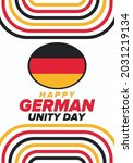 german unity day. celebrated... | Shutterstock .eps vector #2031219134