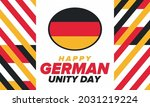 german unity day. celebrated... | Shutterstock .eps vector #2031219224