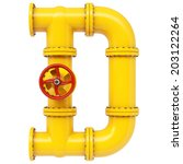 alphabet from gas pipes.... | Shutterstock . vector #203122264