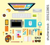 creative vector design elements ... | Shutterstock .eps vector #203122801