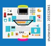 creative vector design elements ... | Shutterstock .eps vector #203122861