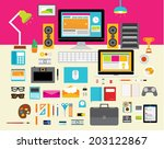 creative vector design elements ... | Shutterstock .eps vector #203122867
