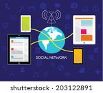 vector design elements for... | Shutterstock .eps vector #203122891