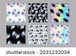 cd disk seamless patterns set.... | Shutterstock .eps vector #2031232034